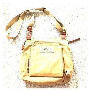 Fossil Handbags - 🗝 Fossil 1954 tan cross-body great adj strap