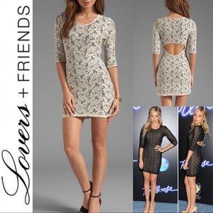 LOVERS+ FRIENDS Cream Lace Sway Dress ASO Celebs