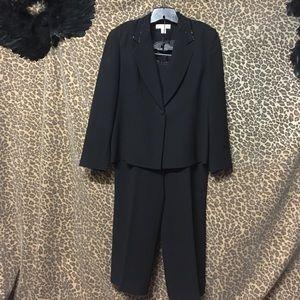 Petite Sophisticate Jackets & Blazers - 2 Pc. Petite Sophisticate Black Suit