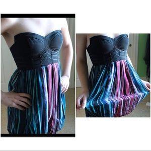 NWT Bebe Corseted Bubble Dress