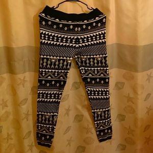 Osiris Pants - Leggings / joggers black and white