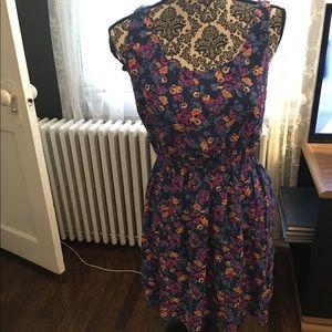 Medium floral blue purple dress 👗