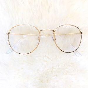 archstarshop Accessories - Round gold fashion glasses