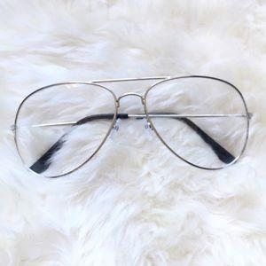 archstarshop Accessories - Silver aviator glasses