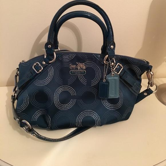 8c750b8c1fa Coach Handbags - Coach Madison Dotted Op Art Sophia Satchel