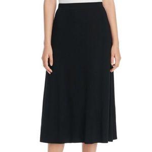 Eileen Fisher Dresses & Skirts - Eileen Fisher Flare Midi Skirt Black Wool Small