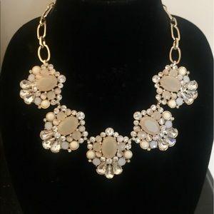 Banana Republic Jewelry - Stunning Blush Crystal & Gold Statement Necklace!