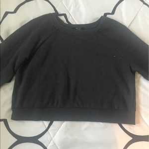 Grey cropped sweater !