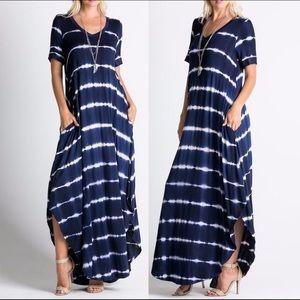Leoninus Dresses & Skirts - ☀️NEW☀️ 🇺🇸Navy Tie Dye Maxi