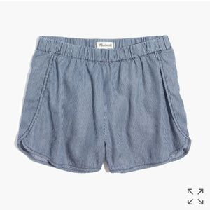 Madewell Pants - Madewell Pull On Shorts in Railroad Stripe