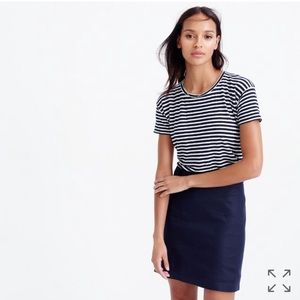 J. Crew Tops - J. Crew Relaxed Linen T-Shirt in Stripe