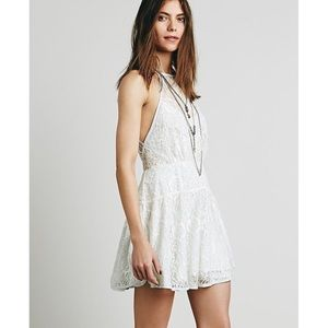 Free People Lace Ice Blue Dress
