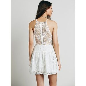 SALE! 💐 Free People Lace Ice Blue Dress