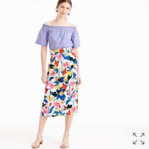 J. Crew Dresses & Skirts - J. Crew Pintucked Midi Skirt in Morning Floral