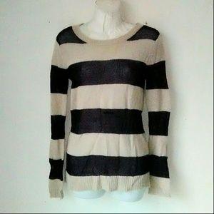 Gap BMohair Black Striped Crew Neck Sweater