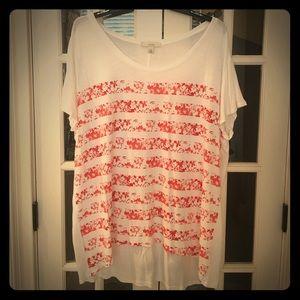 Sejour Tops - Sejour 2X cotton Tshirt scoop neck orange Hi low