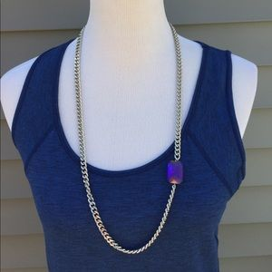 Jewelry - Chain Necklace With Purple Stone