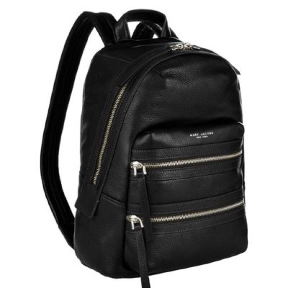 vivid and great in style new release Buy Authentic Marc Jacobs large biker backpack black leather