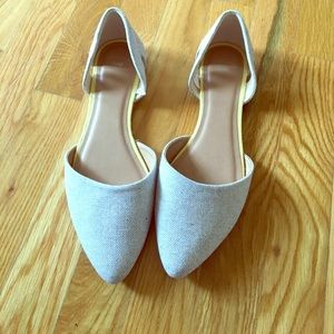 gap factory Shoes - NWOT Gap Factory Light Gray D'orsay flat size 9