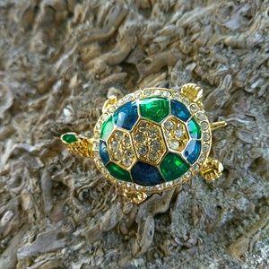 unbranded Jewelry - Enamel Turtle Brooch