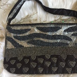Handbags - Shades of Neutral Beaded Boutique Bag