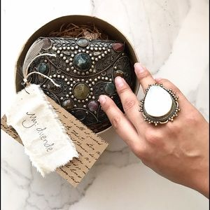 Vintage Shell Brass Ring