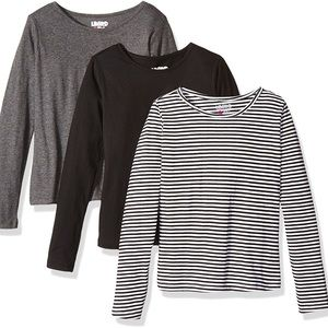Other - Black, Gray, and Striped long-sleeve shirt bundle