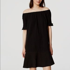 LOFT Dresses & Skirts - LOFT Off the Shoulder Ruffle Hem Dress