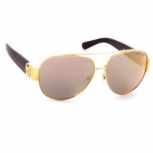 MICHAEL Michael Kors Accessories - ✨NWT✨Michael Kors Black & Gold Mirrored Sunglasses