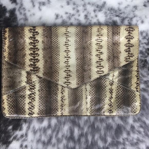 cocobelle Bags - Snakeskin envelope clutch