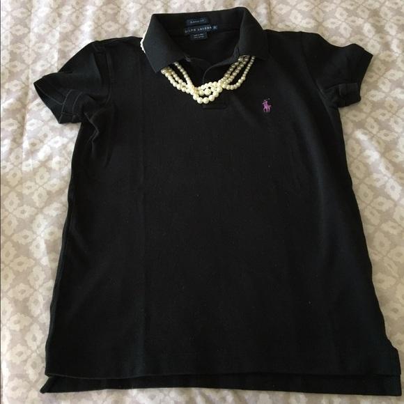 Ralph lauren tops black ralph lauren polo top with for Black ralph lauren shirt purple horse