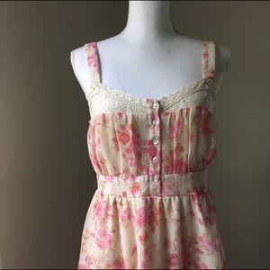Kimchi Blue Dresses & Skirts - Kimchi Blue Pastel pink and cream boho dress, med
