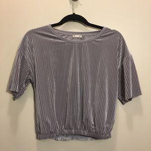 Zara Velvet Crop Shirt