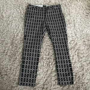 Lord & Taylor Pants - Black and White Patterned Skinny Pants