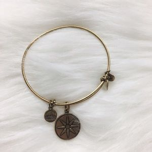 Alex & Ani Jewelry - Alex & Ani Gold Sunshine/Star Bangle Bracelet