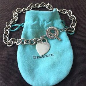 Tiffany & Co. Jewelry - Tiffany & Co. Silver Heart Tag Toggle Necklace