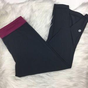 lululemon athletica Pants - Lululemon low rise split back crop tight legging
