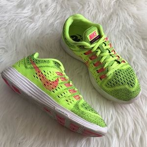 Nike Shoes - Nike Lunar Tempo Neon Yellow Running Sneakers