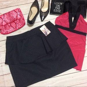 Urban Outfitters Dresses & Skirts - 💙 UO Peplum Jacquard Skirt NWT
