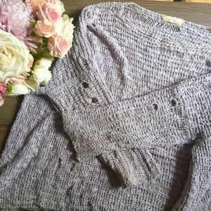 Nasty Gal Lavender Distressed Sweater