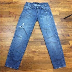 Kut from the Kloth Denim - KUT distressed straight Jeans