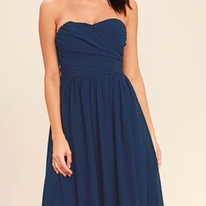 Lulu's navy blue maxi dress