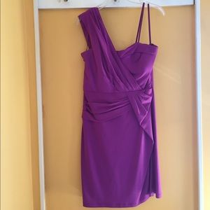 Max & Cleo Dresses & Skirts - Max and Cleo one shoulder dress purple dress.