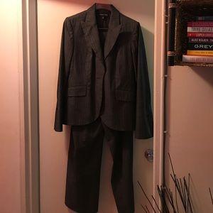 Isabel & Nina  Pants - Grey Linen Suit
