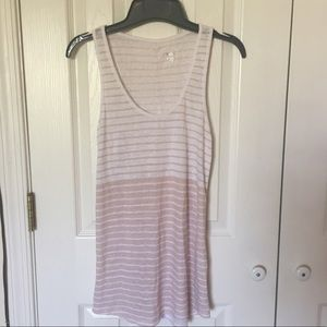 White and beige tank top. XS