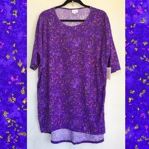 Lularoe Irma Purple Lacy Abstract Print size L