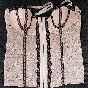 Other - Pink lace bustier