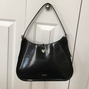 MOSCHINO Black Smooth Leather Handbag Authentic
