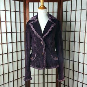 Cache Jackets & Blazers - Cache Purple Blazer / Jacket Size 12