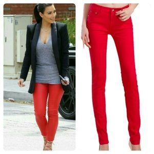 Pants - Red Skinnys